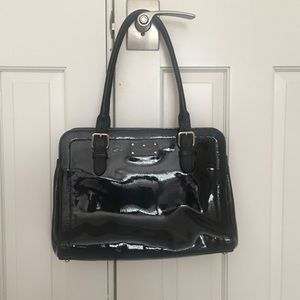 Kate spade black patent shoulder tote